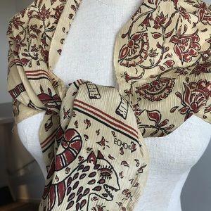 Vintage ECHO silk scarf